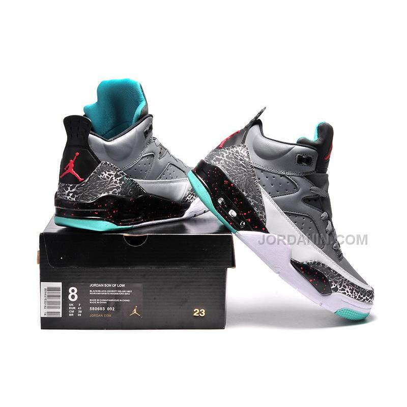 """best service aade9 166b6 ... Jordan Son Of Mars Low """"Pro Stars"""" Cool Grey Poison Green-Infrared ..."""