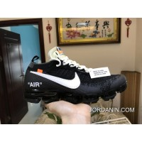 Men OFF WHITE X Nike Air VaporMax 2018 Flyknit Running Shoes AAAAA 207 New Style