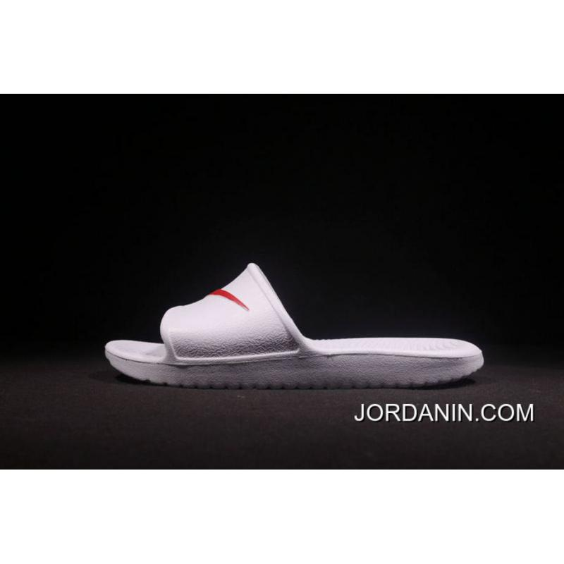 08bdf3710 ... An 2018 Nike From Laser Marking Authentic Slides TAB Right Slides TAB  Benassi Swoosh White Red ...