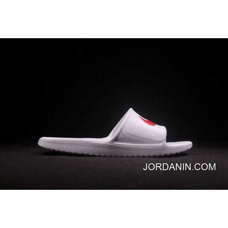 6dedab352 ... An 2018 Nike From Laser Marking Authentic Slides TAB Right Slides TAB  Benassi Swoosh White Red
