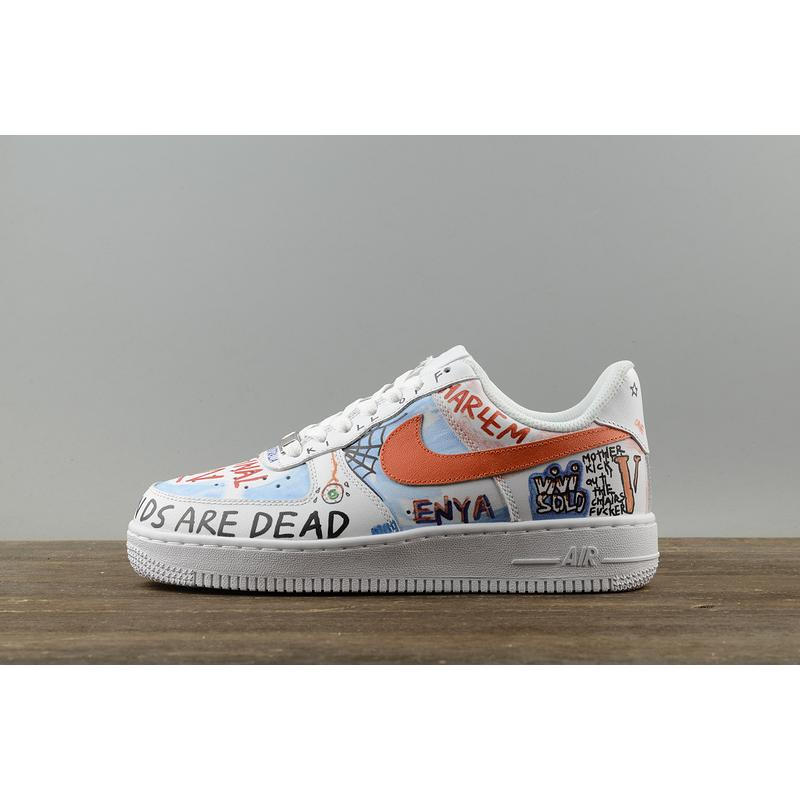 Version Nike LAB Vlone X FORCE 1 As Pauly Graffiti Customized AA5360 ... be671dcc4