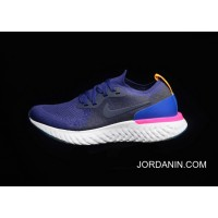 Women/Men New Style 5.0 Maria Version Nike Epic React Flyknit Jumping Shoes Flyknit Knit Navy Blue Red Version A Lot Of Supply