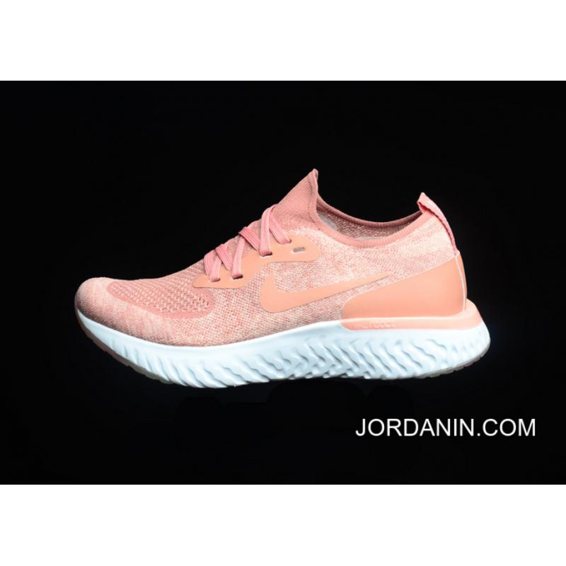 3045bc5c64dbf ... wholesale 5.0 maria version nike epic react flyknit jumping shoes  flyknit knit orange red white version