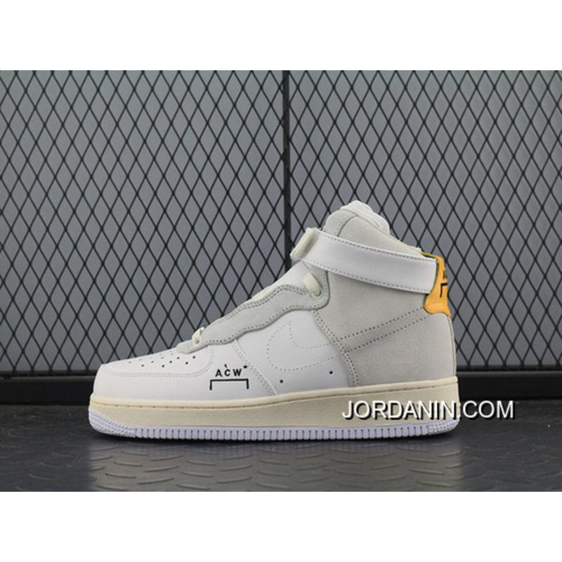 release date: 8d460 8b44d Acw Street Fashion Brand To Be A Cold Wall X Nike Air Force 1 Acw Samuel  Ross Af1 One Mid Top Sneakers Acw White Sallowness Aq5644 Best