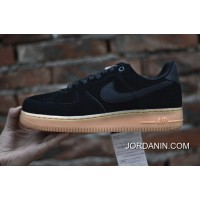 Nike Air Force 1 07 LV8 SUEDE 35 Th Anniversary Black Rubber AA1117-001 Outlet