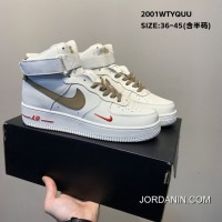 Big Deals 07 Nike Air Force 1 Low IDCream Tarmac One Built-in Palm Air Sole Zoom All-match High Classic Casual Sport Sneakers Milk White Shallow Brown Small Red Hook SKU:130385-452