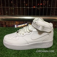 Top Deals Nike Air Force One Af1 Pure White High Casual Shoes 366731-100