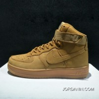 Instruction Level Pure Original Nike Air Force One AF1 Wheat High New Release