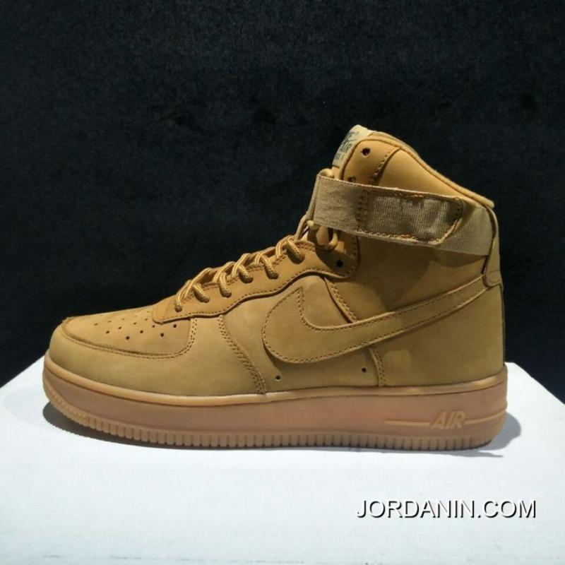 b5146d9d505 Instruction Level Pure Original Nike Air Force One AF1 Wheat High ...