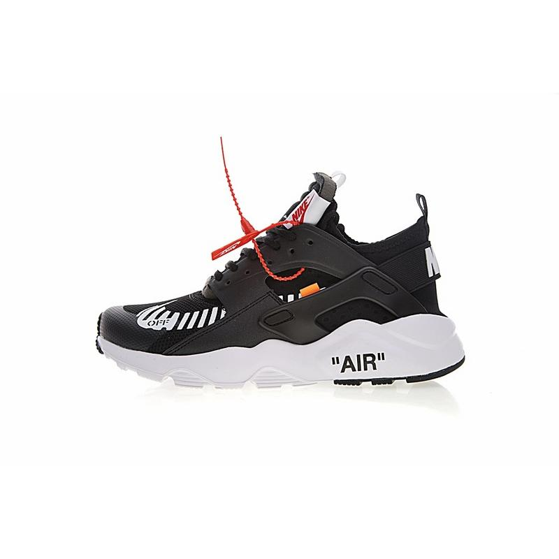 Independent Brand Creative Custom Virgil Abloh Designers OFF WHITE X Nike  Air Huarache Ultra 4 Retro Jogging Shoes OW Black Orange WHITE Bottom  AA3841-001 ... bdcb5e453