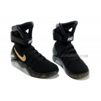 Online Nike Air Mag Back To The Future Limited Edition Shoes Black Gold