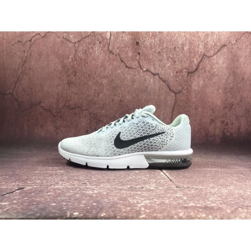 new styles 7a44e 53cb4 Nike Sport Shoes Men 2018 Spring New AIR MAX Shoes Zoom Casual  Wear-resisting Running Shoes Silver Grey Black Cold Grey Wolf Grey White  Jade-like Stone ...