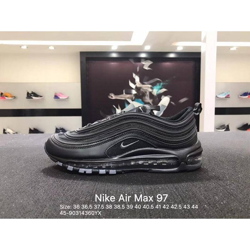 new product 14441 985ac Nike Air Max 97 Triple Black 97 20th Anniversary All Black Size 921733-001  New Style