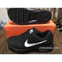 2017 Black Siliver Nike Air Max 2017 Mesh Full-palm Cushion Running Shoes Women Shoes And Men Shoes Copuon
