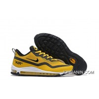 Nike Air Max 97 UL'17 SE Men's Shoes Ginger Yellow/Black Breathable Lightweight Sneakers 2020 Authentic SKU:116152-831
