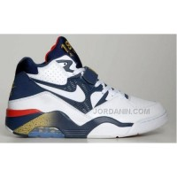 Nike Air Force 180 Olympic 310095-100 White White Midnight Navy-Metallic Gold Hot