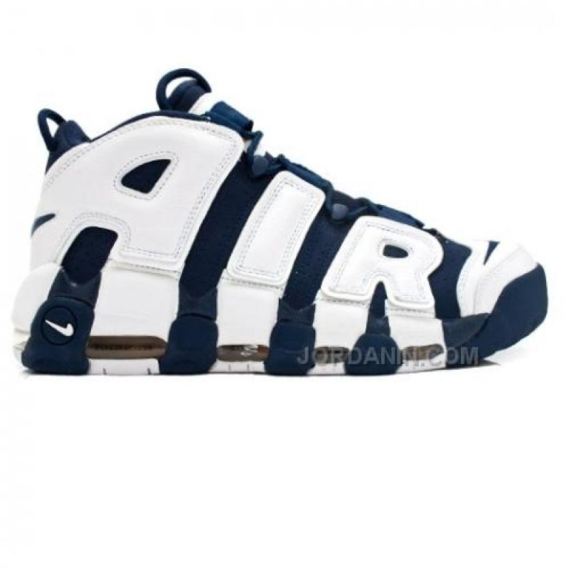 New Nike Air More Uptempo Olympic Scottie Pippen 414962-401 Midnight Navy  White Spirit Red ...