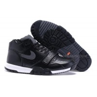 Hot Nike Air Trainer 1 Black Leather