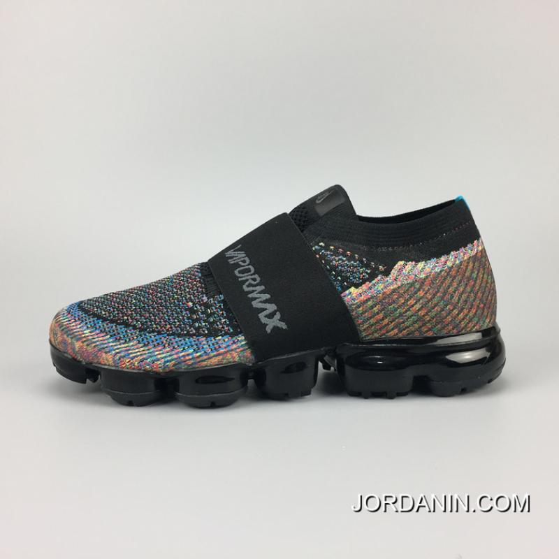 Free Shipping 883275-400 Nike 2018 Bind Rainbow AIR VAPORMAX FLYKNIT MOC  Picking ...