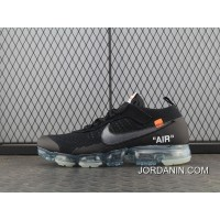 Top Deals PK Version Virgil Abloh Designers OFF-WHITE Nike Air X 2.0 Generation Steam VaporMax Zoom Air Jogging Shoes OW2.0 Black Ice Blue AA3831-002