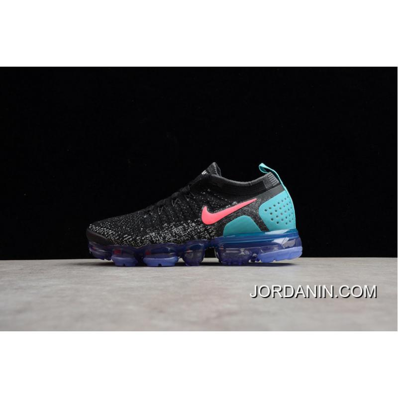 2ee7a20262dd1 New Style Nike Air VaporMax Flyknit 2018 2 Zoom Air 2.0 Black Blue ...