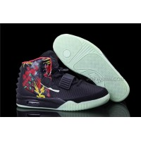 Nike Air Yeezy 2 Bird Of Paradise Black/Fire Red For Sale