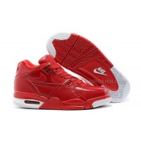New Nike Air Flight '89 Red Leather Basketball Shoes For Sale