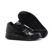 New Nike Air Flight '89 All Black Leather Basketball Shoes For Sale