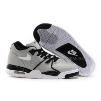 New Nike Air Flight '89 Wolf Grey/Black-White Shoes For Sale
