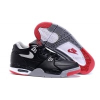 "New Nike Air Flight '89 ""Bred"" Black/Cement Grey-Fire Red-White Shoes For Sale"
