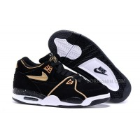 New Nike Air Flight '89 Black/Metallic Bronze-White Shoes For Sale