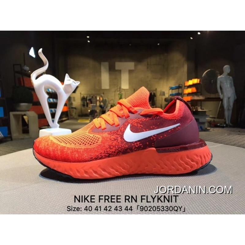 8488245e59b49 ... For Sale Nike Free Rn Flyknit Barefoot Series Set Foot Cushioning  Running Shoes Woven Fabric Super ...