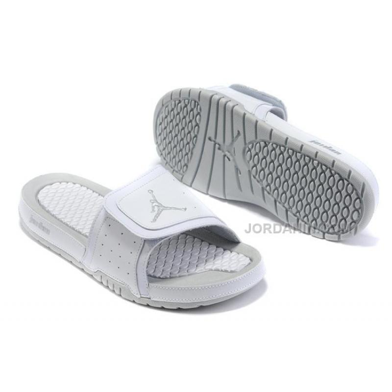 the best attitude d2afe dab84 Buy Air Jordan 2 Hydro Slide Sandals All White Blue Online Sale