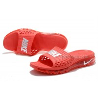 Cheap Nike Air Max 2015 Slide Slippers All Red Online For Sale