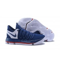 Nike KD 10 Navy Blue/White-Red Online