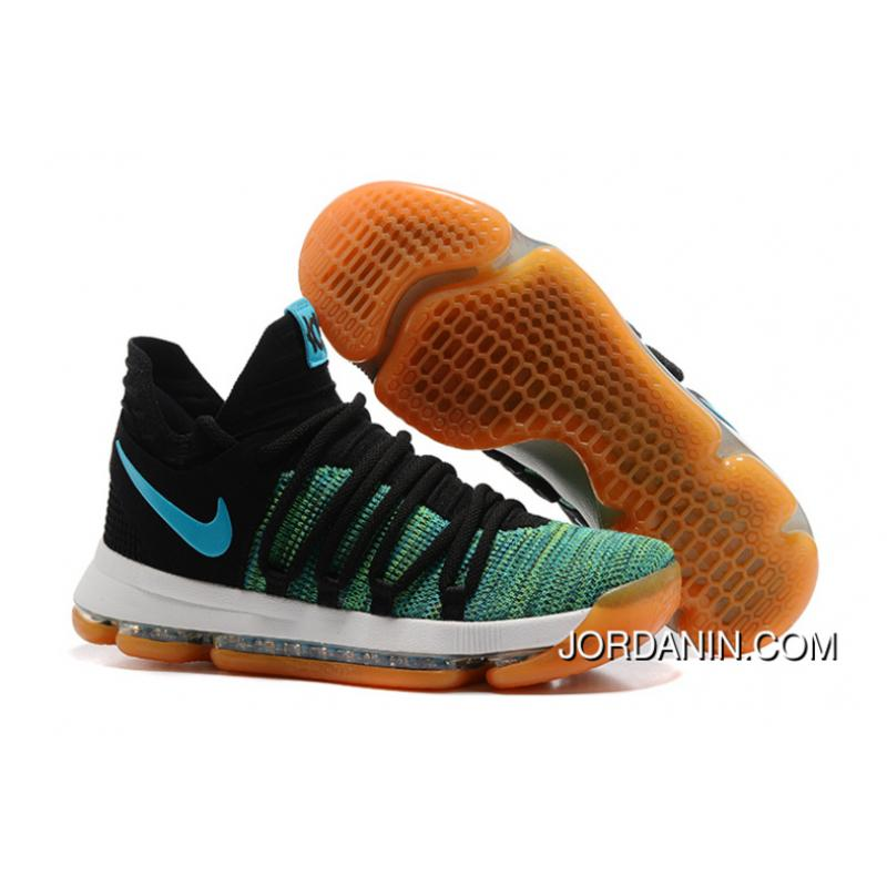 aedd298150d3 ... Nike KD 10 Green Black White Men Shoes Kevin Durant Best ...