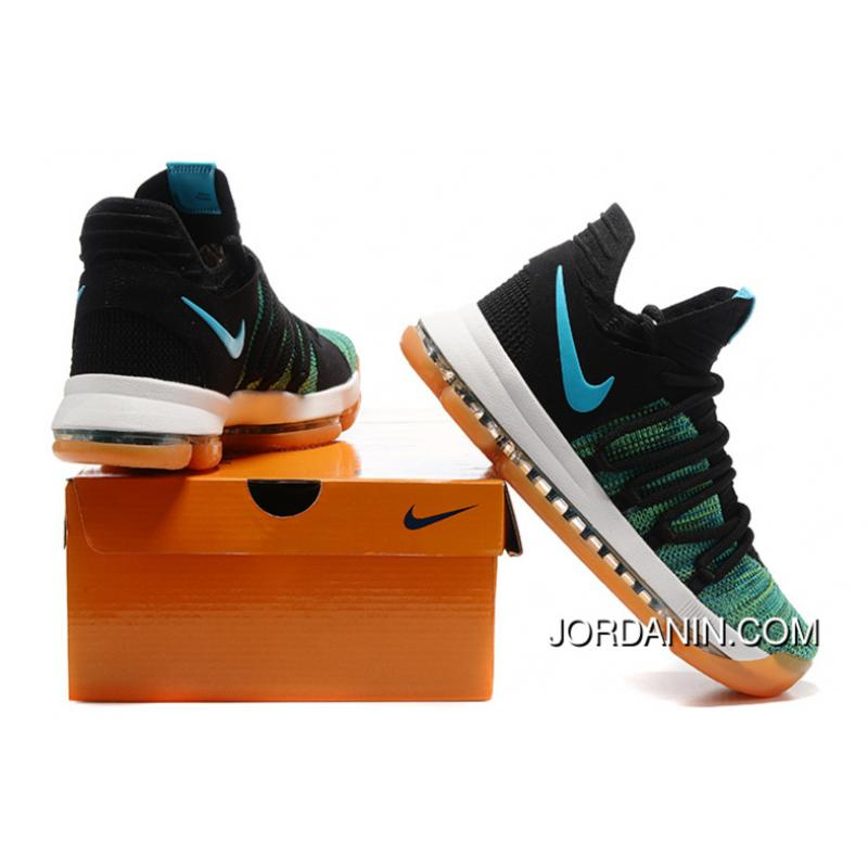 8b1bce851fbb ... discount code for nike kd 10 green black white men shoes kevin durant  best 59c53 a8396