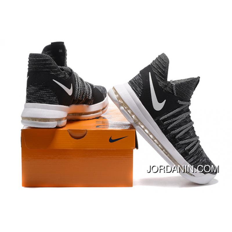 new product c29ff bbfad ... Nike KD 10 Black White Men Shoes Kevin Durant Best ...