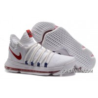 Nike KD 10 White Red Men Shoes Kevin Durant Online