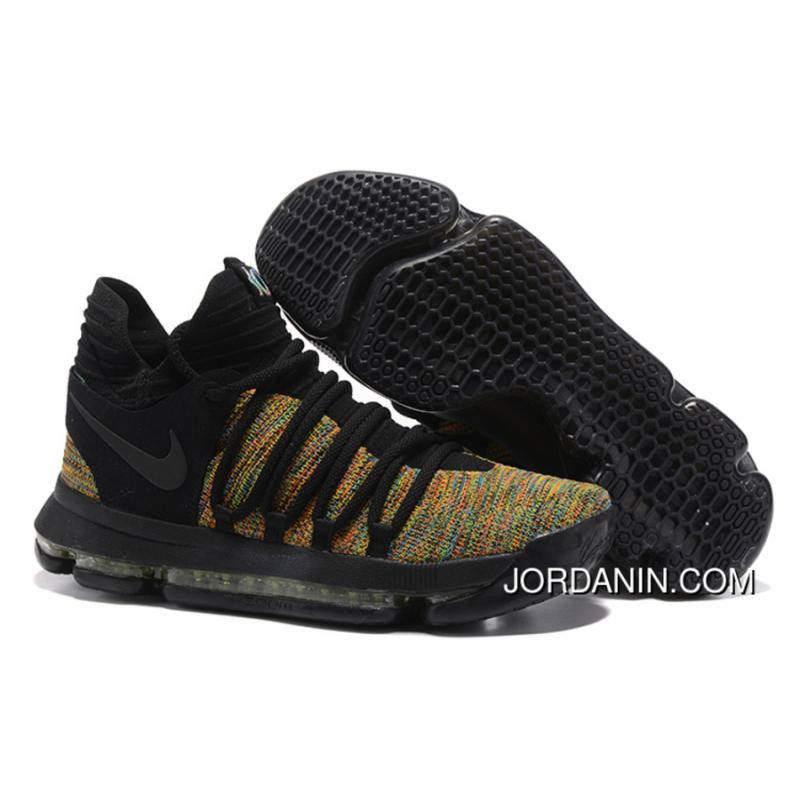 aef9e9babe22 Nike KD 10 Black Gold Men Shoes Kevin Durant New Release