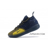 """New Release Nike KD 11 """"Michigan"""" College Navy/University Gold AO2604-400"""
