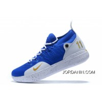 Best Nike KD 11 Royal Blue/White-Metallic Gold