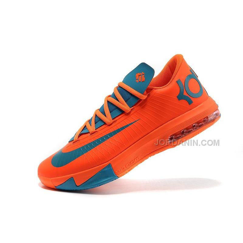on sale b4a78 f6782 ... Nike Kevin Durant KD 6 VI Total Orange Neo Turquoise For Sale Free  Shipping ...