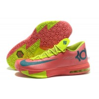 Nike Kevin Durant KD 6 VI Pink/Neon Green-Teal For Sale Free Shipping