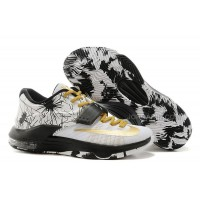 """Nike Kevin Durant KD 7 VII """"Patterns"""" White-Black/Metallic Gold For Sale New"""
