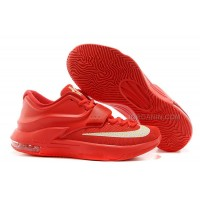 """Nike Kevin Durant KD 7 VII """"Global Game"""" Action Red/Metallic Silver For Sale New"""