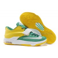 "Nike Kevin Durant KD 7 VII ""Draft Day"" Apple Green/Yellow Strike-White For Sale New"