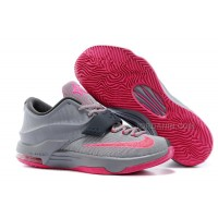 """Nike Kevin Durant KD 7 VII """"Calm Before The Storm"""" Grey/Hyper Punch-Light Magnet Grey For Sale New"""