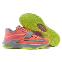 """Nike Kevin Durant KD 7 VII """"35000 Degrees"""" Bright Mango/Space Blue/Light Magnet Grey For Sale New"""