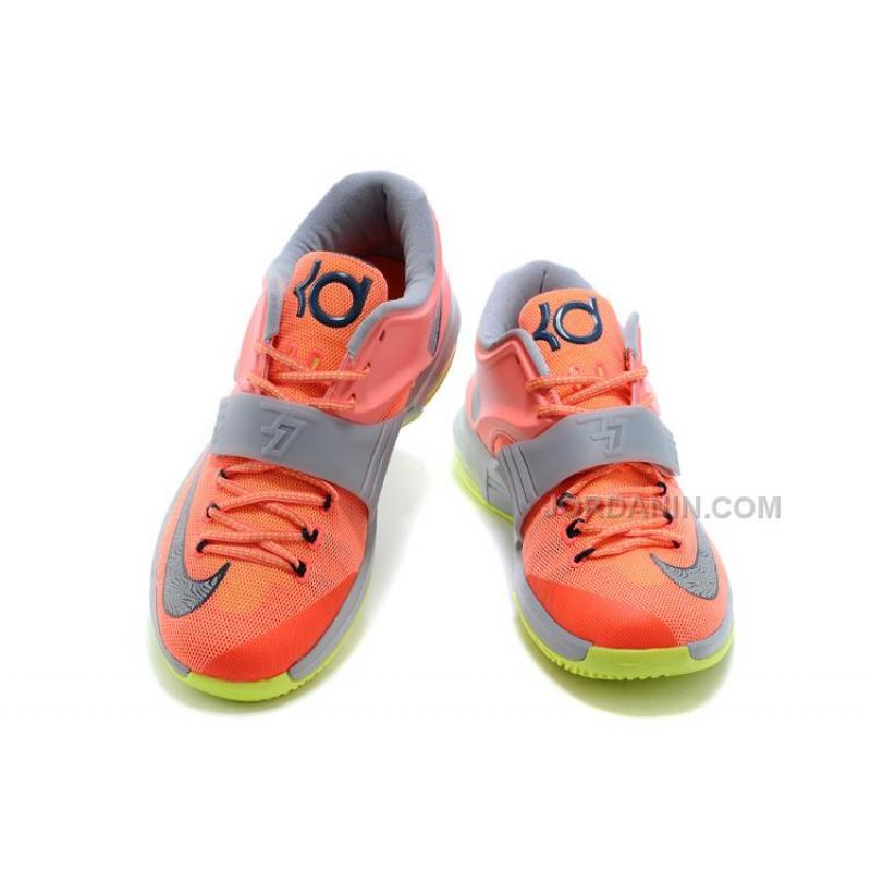 """half off 77cd3 1cac7 ... Nike Kevin Durant KD 7 VII """"35000 Degrees"""" Bright Mango Space Blue  ..."""